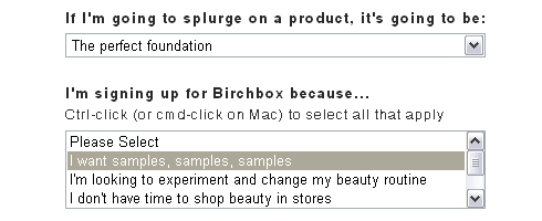My Birchbox Beauty Profile