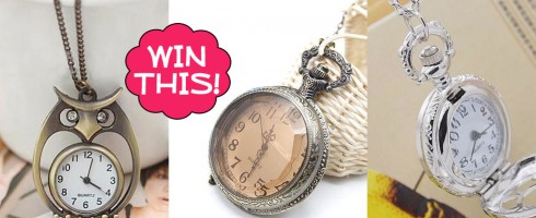 Giveaway! Win 1 of 3 Watch Necklaces from Sassy Steals
