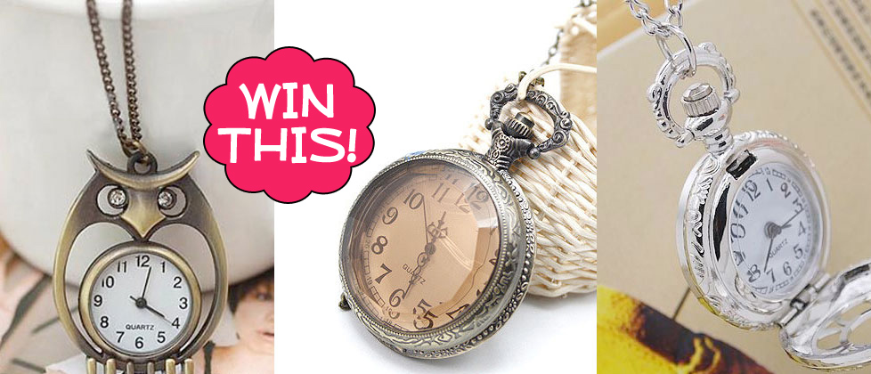 Watch Necklace Giveaway