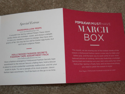 POPSUGAR Must Have Box - March 2013