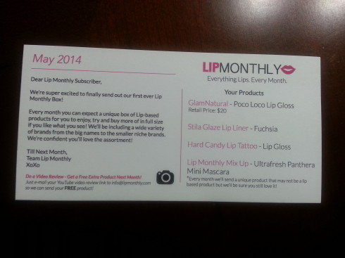 Lip Monthly Review